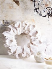 spiced Christmas wreath pavlova with eggnog custard
