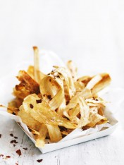 spicy parsnip chips