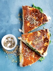 spinach, ricotta and dukkah gozleme