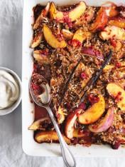 summer fruit and quinoa crumble