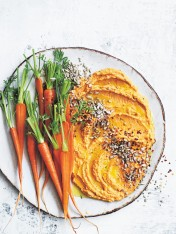 sweet potato, kaffir lime and sunflower seed dip