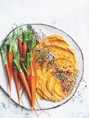 sweet potato, kaffir lime and sunflower seed dip