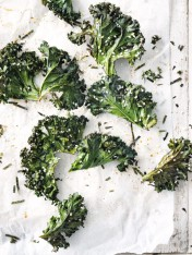 tamari and sesame kale chips