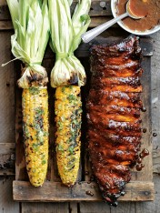 grilled corn with lime and chilli butter