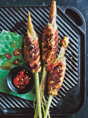 thai chicken lemongrass skewers