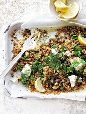 toasted grain and cauliflower tabouli