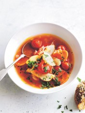 tomato and root vegetable minestrone