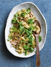 tuna, olive and parsley pasta salad