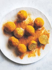 Turmeric, coconut and almond bliss balls