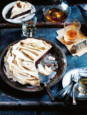 chocolate and whiskey cream pie