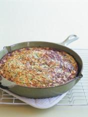 zucchini and ricotta frittata