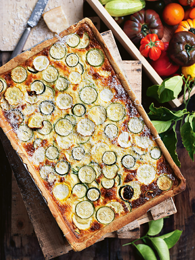 zucchini and provolone tart donna hay. Black Bedroom Furniture Sets. Home Design Ideas