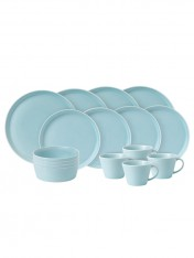 coastal 16-piece dinner set - blue