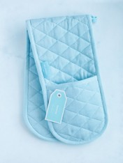 double oven mitt - blue