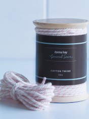 cotton twine – pink and white