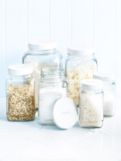 Glass storage Jars - Mixed Set of 6