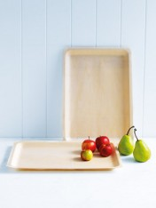 large wooden platters – set of 2