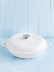 Le Creuset 30cm shallow casserole in cotton