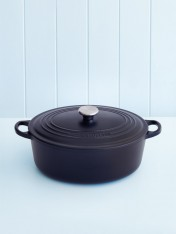 Le Creuset 29cm oval casserole in satin black