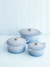 Le Creuset 24cm casserole in coastal blue
