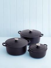 Le Creuset 26cm casserole in satin black