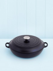 Le Creuset 30cm shallow casserole in satin black