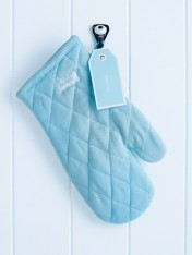 oven mitt pale blue-unlined