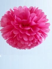 pom poms tissue medium – hot pink