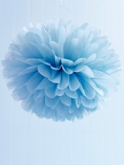 pom poms tissue medium – pale blue