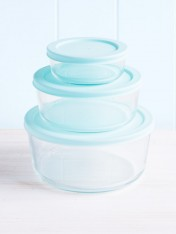 glass storage containers - set of three