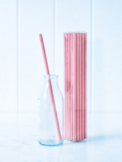 paper straws – pink - pack of 25