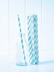 paper straws – striped blue