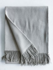 WOOL AND CASHMERE THROW - NUTMEG CHAI