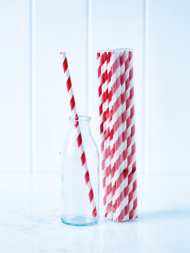 paper straws – striped red