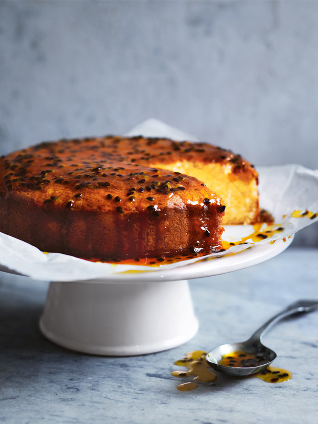 SHOW STOPPING DESSERT LEMON CAKE WITH PASSIONFRUIT SYRUP