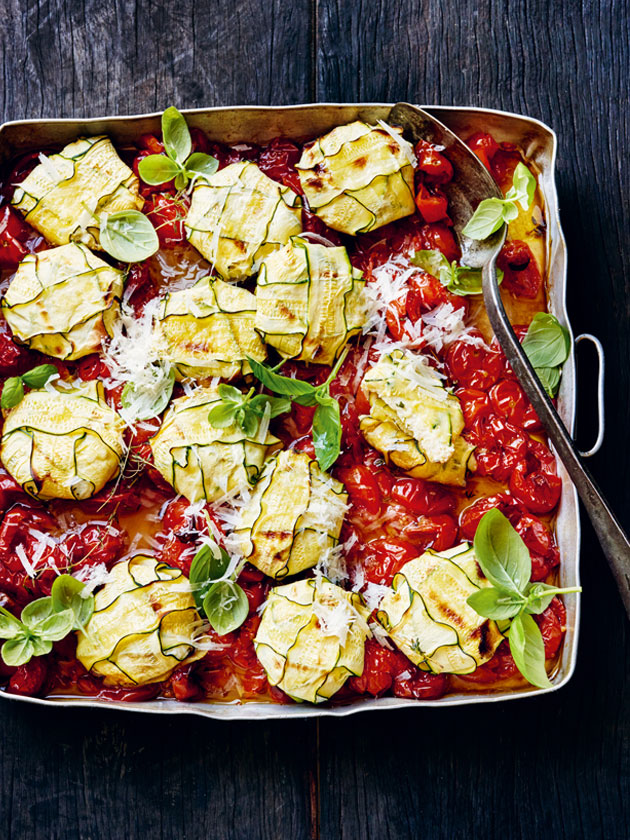 FROM EVERYDAY FRESH ZUCCHINI 3-CHEESE RAVIOLI WITH BAKED TOMATO SAUCE